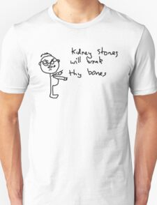 Kidney Stones (black) Unisex T-Shirt