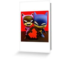 Catwoman & Batman Valentines Greeting Card