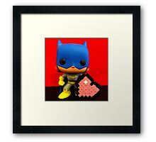 Bat Girl Valentines Framed Print