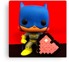 Bat Girl Valentines Canvas Print