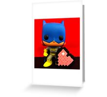 Bat Girl Valentines Greeting Card