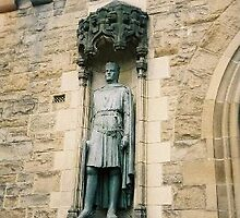 Statue of Robert Bruce at Edinburg Castle, Scotland by chord0