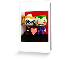 Harley Quinn & Joker Valentines Greeting Card
