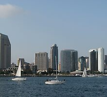 Sailing in San Diego by Jan  Wall