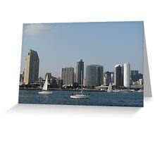 Sailing in San Diego Greeting Card