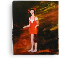 olivia the juggling doll Canvas Print