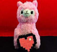 Pink Alpaca Valentines by FendekNaughton