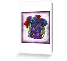 [Tea Cup Dragons] Rose Couple Greeting Card