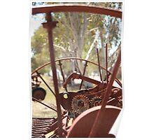 Rusting farm equipment Poster