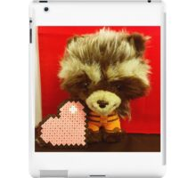 Rocket Raccoon Valentines iPad Case/Skin