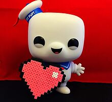 Marshmallow Man Valentines  by FendekNaughton