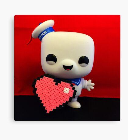 Marshmallow Man Valentines  Canvas Print