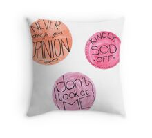 Sod Off Pack Throw Pillow