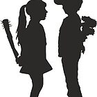 Banksy Design Print Girl and Boy  by willsharpe1