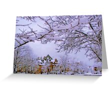Winter in New England  Greeting Card