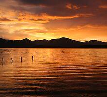Sunset over Loch Lomond by brianmcgui