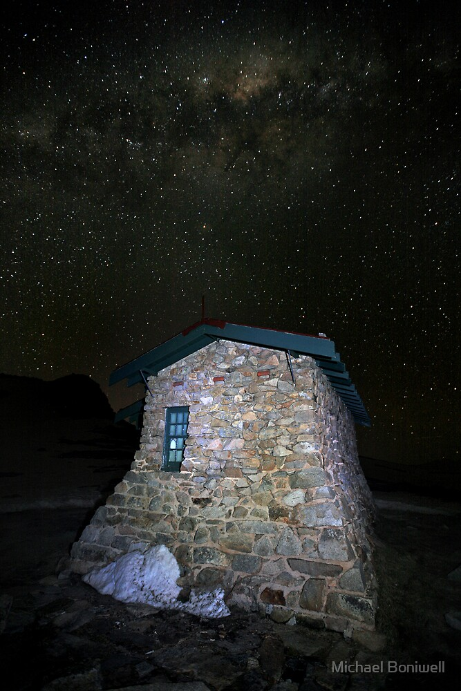 Star Filled Night, Seamans Hut, Mt Kosciusko, Australia by Michael Boniwell