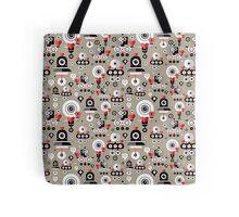 pattern amusing lovers robots Tote Bag