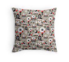 pattern amusing lovers robots Throw Pillow
