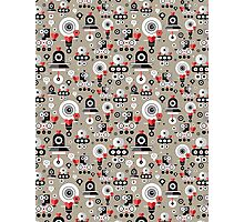 pattern amusing lovers robots Photographic Print
