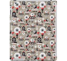 pattern amusing lovers robots iPad Case/Skin