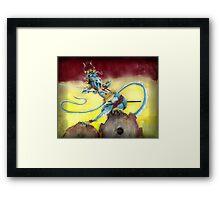 Samurai Steampunk Dragon Framed Print