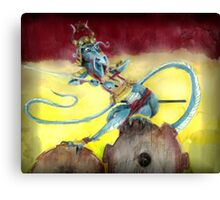 Samurai Steampunk Dragon Canvas Print