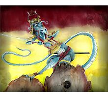 Samurai Steampunk Dragon Photographic Print