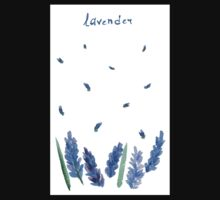 Vector watercolor lavender with blue bright watercolor ribbon. Kids Clothes