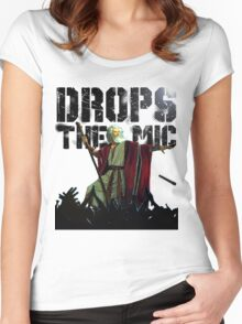 Drops The Mic (Moses) Women's Fitted Scoop T-Shirt
