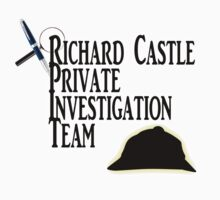 Richard Castle Private Investigation Team Kids Clothes