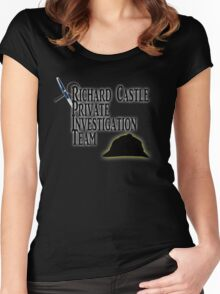 Richard Castle Private Investigation Team Women's Fitted Scoop T-Shirt