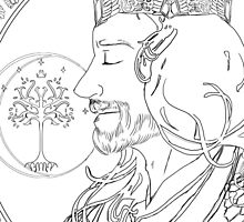 Aragorn - art nouveau by Son-of-Ferron
