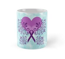 Purple Ribbon, Butterfly  Mug