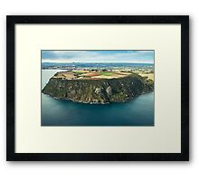 Tassie from the Air - Table Cape Framed Print