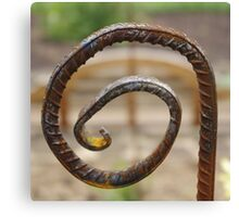Rusted Scroll Canvas Print