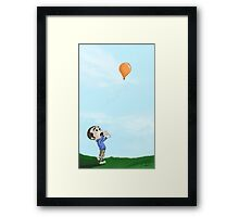 Balloon catching Framed Print