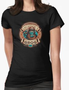 Ghost Pirate Grog Womens Fitted T-Shirt