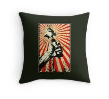 Coffee Revolution! Distressed Throw Pillow