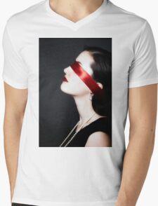 blindfolded Mens V-Neck T-Shirt