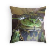 creekside cicada in early autumn Throw Pillow