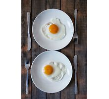 fried eggs Photographic Print
