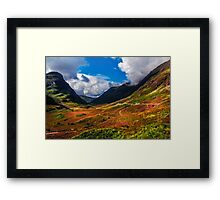 The Valley of Three Sisters. Glencoe. Scotland Framed Print