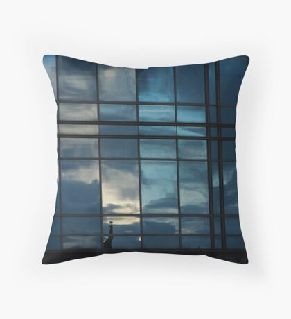 off the glass Throw Pillow