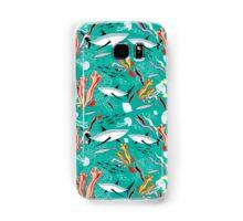 sea pattern with sharks Samsung Galaxy Case/Skin