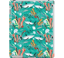 sea pattern with sharks iPad Case/Skin