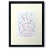 Prof's Hand Framed Print