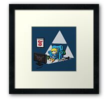 Just Wind Wakin' Up (Legend of Zelda Wind Waker) Framed Print
