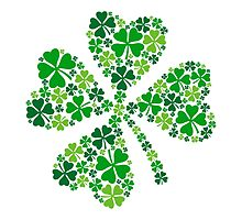 lucky four-leaf clover, green shamrock  by beakraus