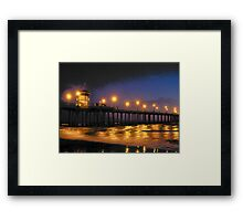 Surf City Lights II Framed Print